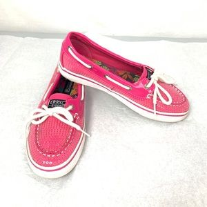 Youth Size 3M Pink Sequin Sperry's